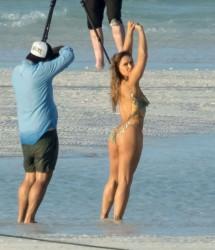 Ронда Роузи на съемках скандальной фотосессии для Sports Illustrated