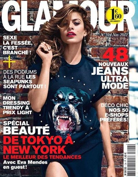 Ева мендес в журнале Glamour