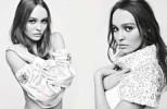 Лили-Роуз Депп и Кара Делевинь в рекламе Chanel