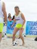 Эжени Бушар попробовала себя в пляжном футболе