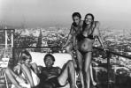 Джессика Лэнг, Милош Форман, Владимир Высоцкий и Марина Влади. США, Лос-Анджелес, август 1976 года