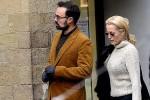 Джиллиан Андерсон гуляет по Флоренции с сыном миллионера Александра Лебедева Евгением