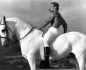 Ретрофото. Арнольд Шварценеггер на белом коне. 1975 год