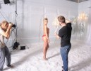 Супермодель Кэндис Свэйнпол на съёмках фотосессии для Victoria's Secret