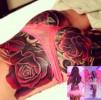 Шерил Коул украсила ягодицы розами