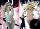 Леди ГаГа выступила на церемонии MTV практически голой