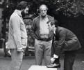 Фрэнсис Форд Коппола, Марлон Брандо и Аль Пачино на съемках фильма «Крестный отец»