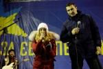 Хайден Панеттьери и Владимир Кличко на сцене «Евромайдана» в Киеве