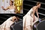 Дженнифер Лоуренс свалилась со сцены во время вручения «Оскара»
