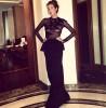 Кэти Топурия примерила прозрачное платье без нижнего белья