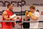 Открытая тренировка Владимира Кличко и Александра Поветкина