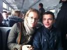 Ксения Собчак в подмосковной электричке