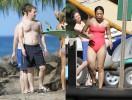 Марк Цукерберг с женой Присциллой обучается сёрфингу