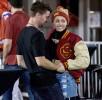 Майли Сайрус и сын Арнольда Шварценеггера - Патрик на футбольном матче