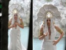 Моника Беллуччи на съёмках фильма Le meraviglie («Чудеса»)