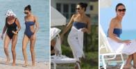 Ольга Куриленко отдыхает на пляже в Майами