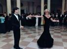 Ретрофото. Принцесса Диана и актер Джон Траволта. Белый дом, США. 1985 год
