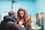 Горячая Анна Седокова на съёмочной площадке