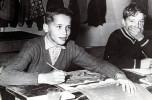 Ретрофото. Арнольд Шварценеггер за школьной партой. Австрия. 50-е годы