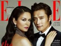 Кэтрин Зета-Джонс и Ли Бен Хон в корейском выпуске Elle (10 ФОТО)