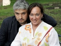 Лариса Гузеева «выбита» на теле мужа
