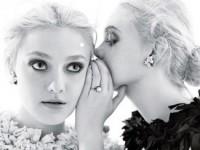 Неповторимые сёстры Фаннинг в декабрьском W Magazine (6 ФОТО)