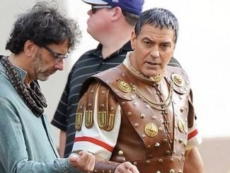 Кадр со съемочной площадки, Джоэл Коэн и Джордж Клуни