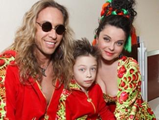 Сергей Глушко и Наташа Королева с сыном Архипом