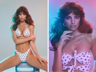 Фото Эмили Ратаковски в рекламе купальников