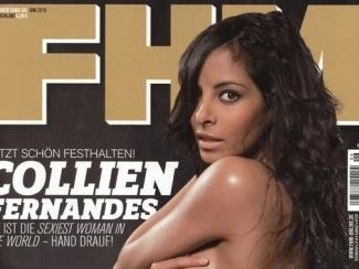 фотография Коллин Фернандес в FHM - титульная