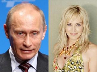 Владимир Путин и Шэрон Стоун