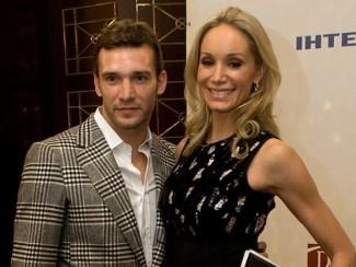 Андрей Шевченко с женой Кристен Пазик