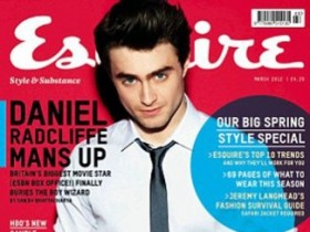 Дэниел Рэдклифф в мартовском номере журнала «Esquire» (7 ФОТО)