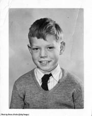 Ретрофото. 9-летний Мик Джаггер в школе. Дартфорд. Великобритания. 1951 год
