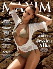 Джессика Альба на обложке сентябрьского Maxim