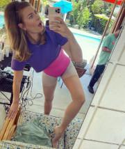 Мария Шарапова снялась в обтягивающем нижнем белье