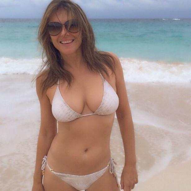 51-летняя британская актриса Элизабет Херли в купальнике