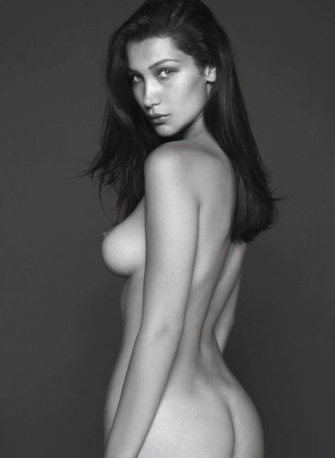 Голая Белла Хадид в журнале Vogue
