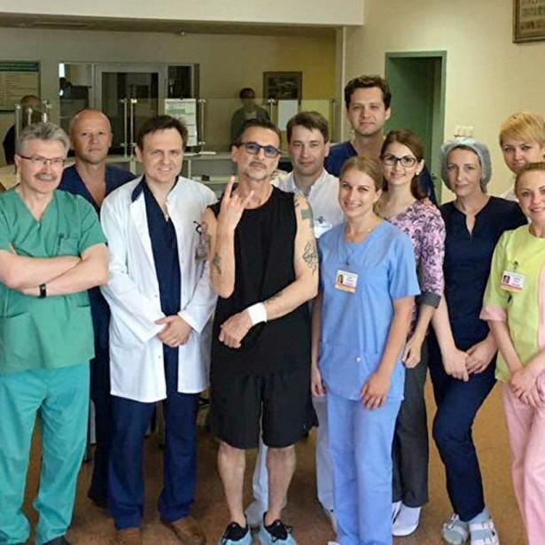 Фронтмен Depeche Mode Дэвид Гаан в больнице Минска