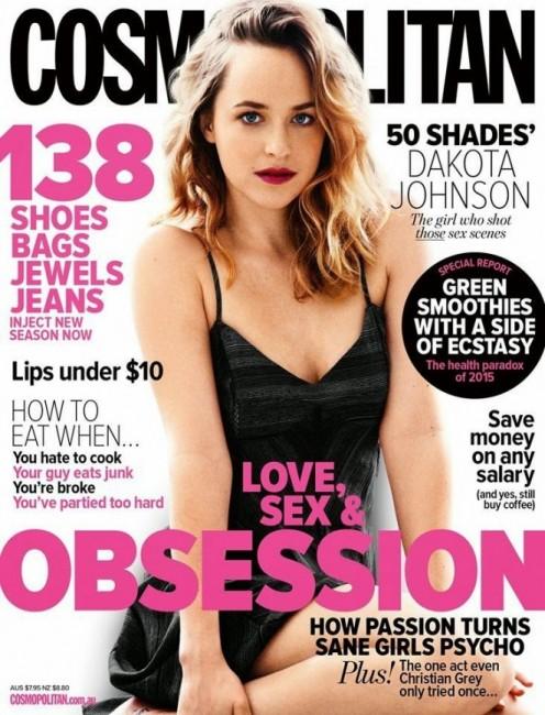 Дакота Джонсон на обложке австралийского Cosmopolitan