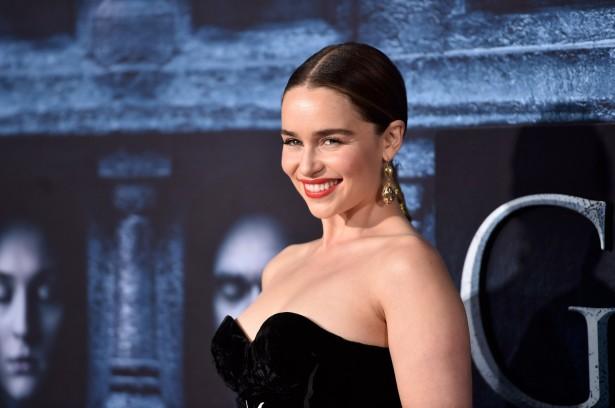 Эмилия Кларк на премьере шестого сезона «Игры престолов» в Лос-Анджелесе