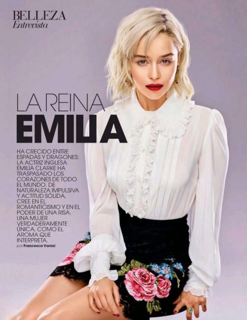 Звезда «Игры престолов» Эмилия Кларк в испанском Marie Claire