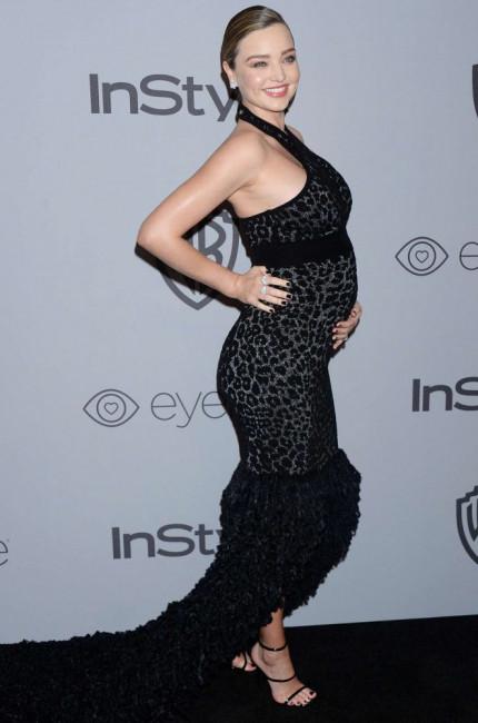 Беременная Миранда Керр на церемонии вручения премий «Золотой глобус»