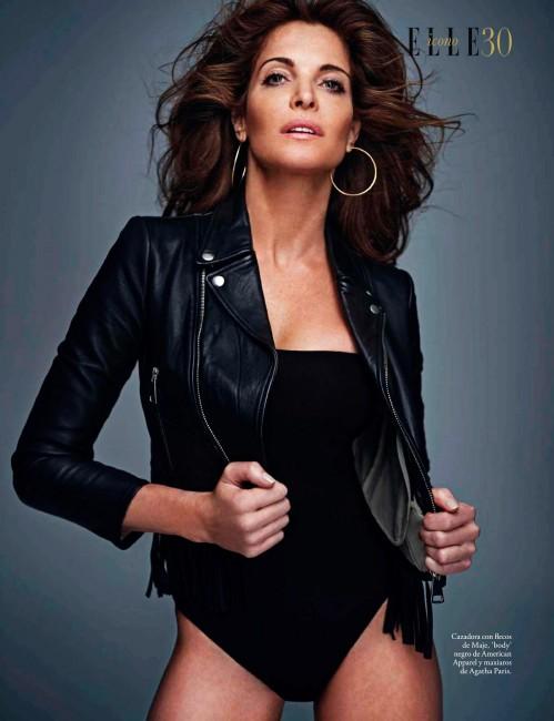 48-летняя американская сумермодель Стефани Сеймур в октябрьском Elle