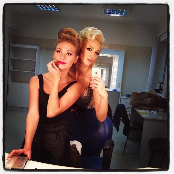 Кристина Асмус и Ольга Бузова на шоу «Танцы со звездами»