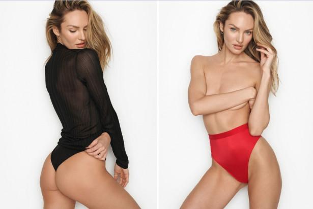 Модель Victoria's Secret прорекламировала белье, снявшись без белья
