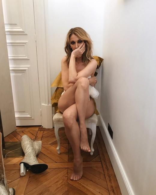 49-летняя Селин Дион снялась полностью голой для Vogue