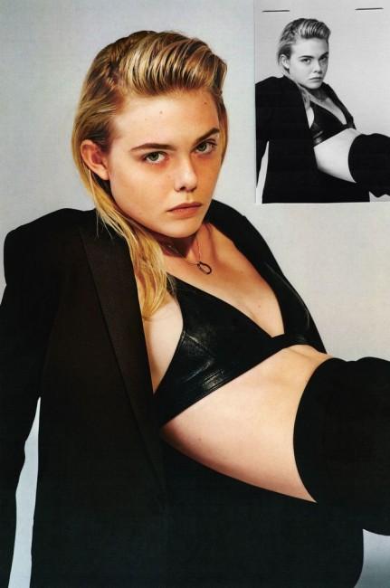 17-летняя Эль Фаннинг в журнале i-D