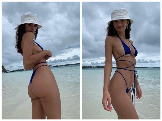 Эмили Ратаковски посетила пляж в бикини из веревок