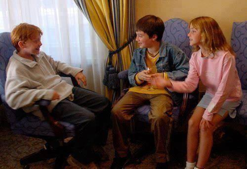 Ретрофото. Руперт Гринт, Дэниел Рэдклифф и Эмма Уотсон. Первый день съемок «Гарри Поттера»